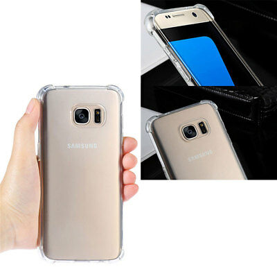 For Samsung Galaxy S8 S9 Plus Case Clear Hybrid Shockproof Soft TPU Bumper Cover