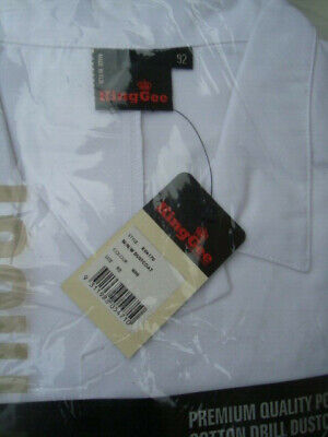 DUST COAT/ LAB COAT in WHITE  size 92R  poly/cotton free post KING GEE