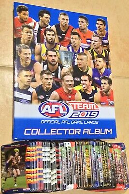 2019 AFL TEAMCOACH FOLDER AND COMPLETE COMMON CARD SET 234 cards