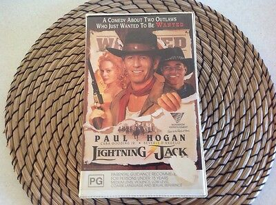 Lightning Jack Paul Hogan Vhs Pal Video Cassette Tape Original