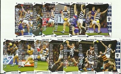 2019 Afl Teamcoach Geelong Common Card Team Set 13 Cards