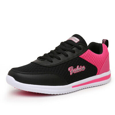 Women Sneakers Shoes Workout Breathable Mesh Lace Up Tennis Ladies Soft Sole