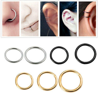 Segment Ring Hoop Ear Nose Lip Cartilage Tragus Helix Piercing New Style