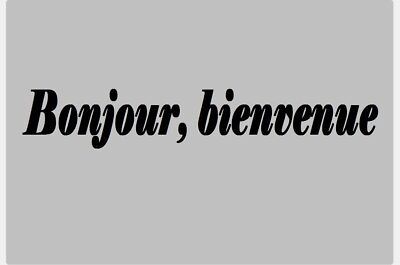 """DECAL STICKER """"BONJOUR, WELCOME"""" RACK STORE SHOP COMMERCE 30 cm"""