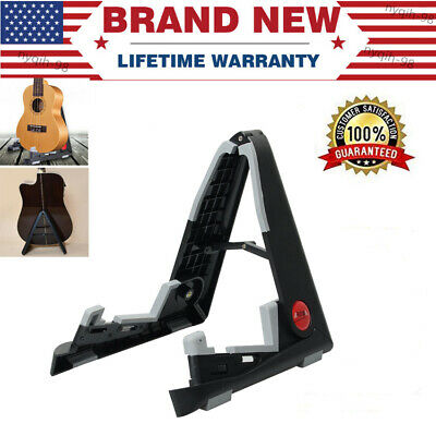 Portable Adjustable Support Folding Guitar Stand Music Electric Ukulele Violin