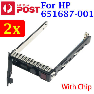 "2x HP G8 Gen8 651687-001 2.5"" SFF SAS SATA HDD Tray Caddy 651699-001 DL380p G9"
