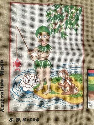 The Canberra Collection Tapestry canvas ONLY - Gumnut Baby Fishing