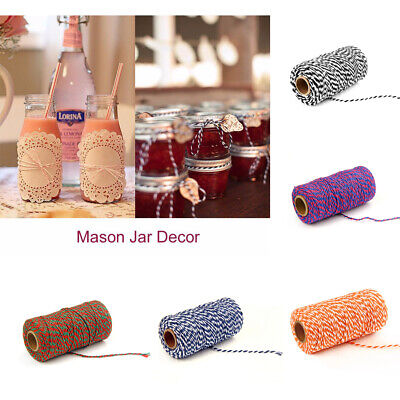 Strong Bicolor Gift Decoration Multifunctional Fabala Cotton String Traditional