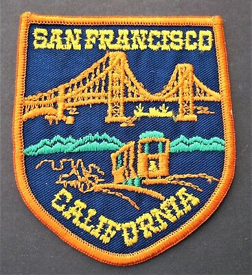 Vintage Travel Patch U.s.a. San Francisco California State Bridge Cable Car