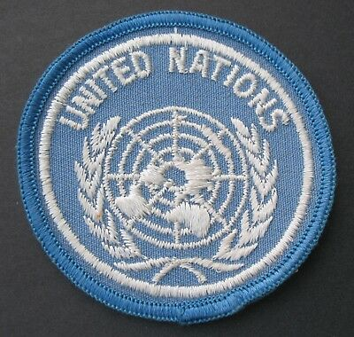 Vintage Travel Patch United Nations New York Usa Symbol Map Wreath