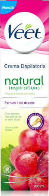 crema depilatoria Veet Crema Depilatoria Natural Inspirations Olio di Semi d'Uva