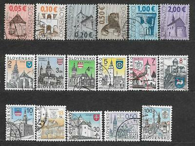 Slovakia small lot of used stamps Slovensko