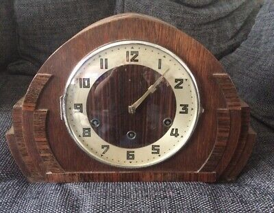 Vintage Garrard Art Deco Mantle Clock