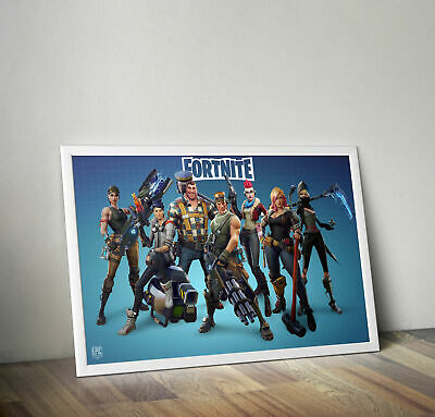FORTNITE Gaming PS4 XBOX PC Video Game Poster Print A4 FRAME Satin/Glossy Gift