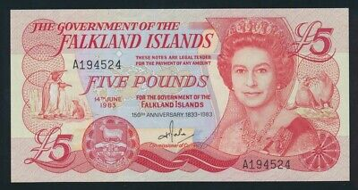 Falkland Islands: 14-6-1983 £1 QEII 150TH ANNIVERSARY. P12a UNC Lt hand Cat $120