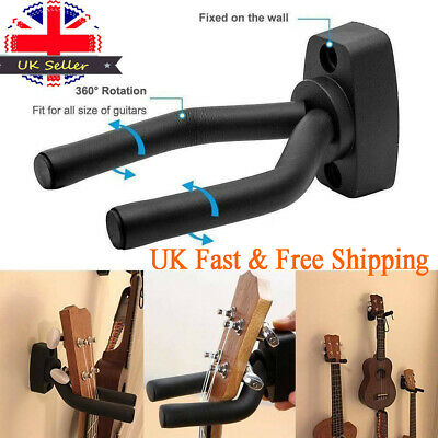 4Pcs Padded Guitar Display Wall Hanger/Bracket /Hook Bass Electric Acoustic -UK