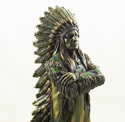 American Indian Redskin Chief Figure Native Male Statue Figurine Sculpture NEW