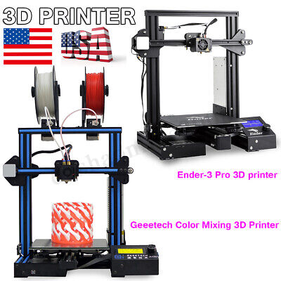 Original Geeetech Color Mixing/Creality Ender-3 3D Printers+Magnetic Heatbed Kit