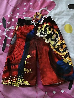 Childrens License Marvel Spider-Man Boardshot Size 6 Red  Bnwt