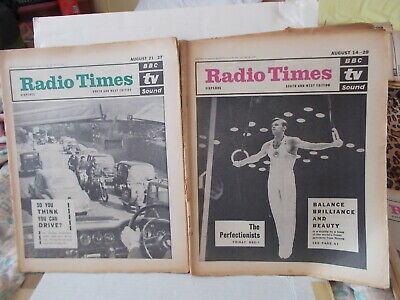 2 X Radio Times South & West Editi0N Aug.14-20 & Aug. 21-27 1965 , See Descrip