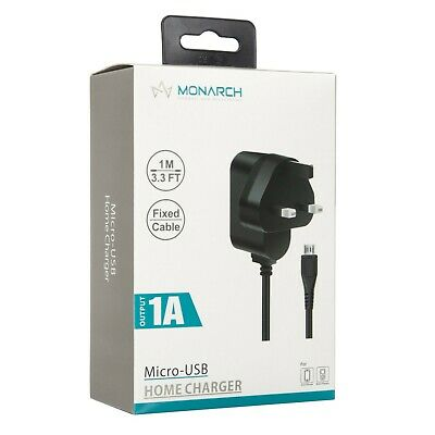 Monarch UK Mains micro usb Home Wall travel Charger -1a,