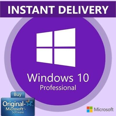 Microsoft Windows 10 Pro Professional Key Code 32 & 64 Bit Product Vollversion