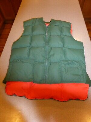 Vintage Mens PIONEER Vancouver Canada REVERSIBLE GOOSE DOWN PUFFER VEST Small S