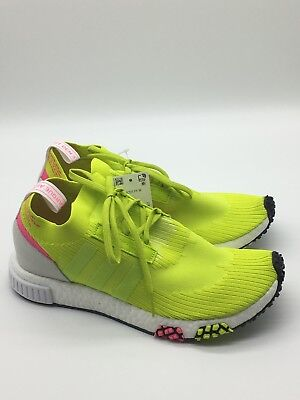 watch 80f09 97341 adidas women Nmd Racer White Semi Solar Yellow AQ1137