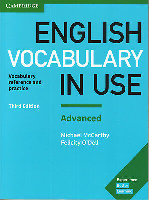 Cambridge ENGLISH VOCABULARY IN USE ADVANCED with Answers THIRD EDITION 2017 New