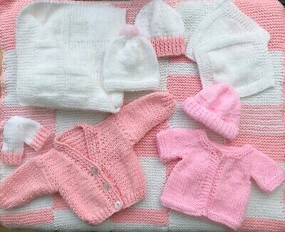 New Knitted Bundle for a  Premature Baby Girl