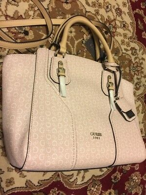 Guess Handbag Alder SV676706 Women s Purse Blush Satchel Bag New d246f7e6db6c0