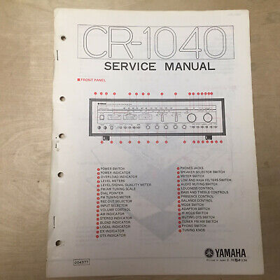 Original Yamaha Service Manual for the CR-1040 Receiver Repair
