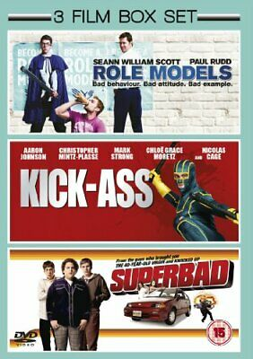 Superbad/Role Models/Kick-Ass (DVD 2012) Nicolas Cage