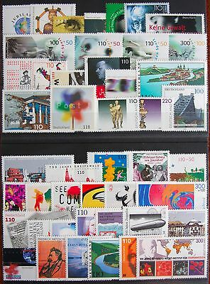 Germany Complete Year 2000 Stamp Set + C/Ds & Sheet Singles MNH German Stamps