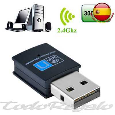 Mini adaptador WIFI USB Wireless 300 Mbps Inalambrico Mini LAN Gran Potencia -N