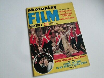 Photoplay Jan '70 - George Lazenby James Bond OHMSS Streisand Loren Rod Steiger