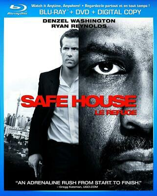 Safe House [Blu-ray + DVD + Digital] (Bilingual) Slip Cover Free Shipping