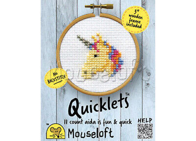 Mouseloft Quicklet Mini Counted Counted Cross Stitch Kit - Unicorn