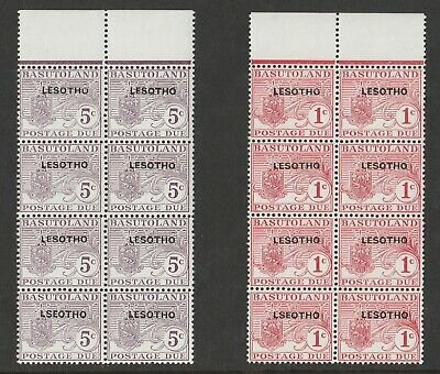 Lesotho 1966 QEII Dues with 'LSEOTHO' variety SG D11a - D12a Mnh.