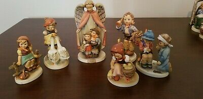 Mixed Lot of 6 Rare Hummel Goebel Figurines...Heavenly Protection dated 1961