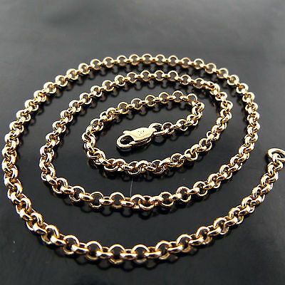 Fsa627 Genuine Real 18K Yellow Gf Gold Belcher Link Solid Pendant Necklace Chain