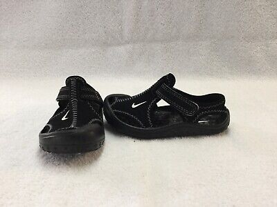 80937cf5c585 NIKE SUNRAY PROTECT Toddler Boys Grey black Sandals water Shoes~size ...