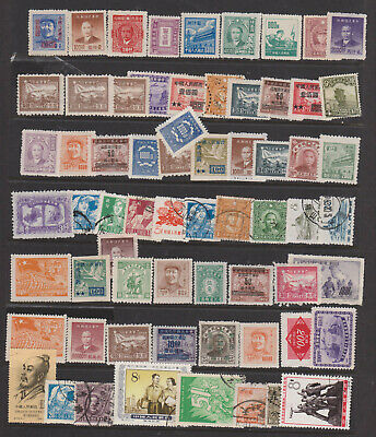 CHINA, collection, old used and unused stamps