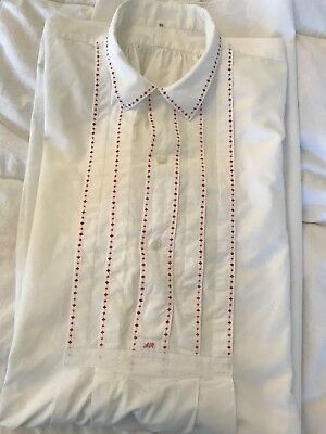 Antique Men French Victorian Chemise/Nightgown Size 46 White Cotton Extra Large