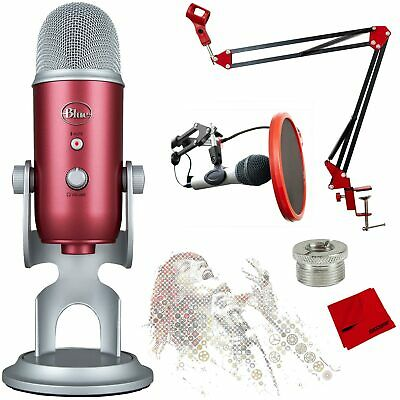 BLUE MICROPHONES Yeti USB Microphone with Ultimate Recording Bundle - Steel Red