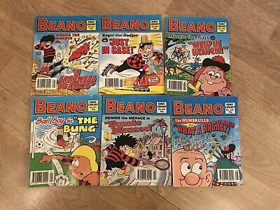 Vintage Beano Small Comic Books Set Of 6 All 1996