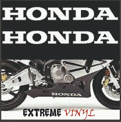 Honda Belly Pan Stickers 2x 300mm Gloss White CBR Fireblade