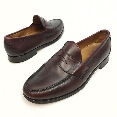 cdcb7416a59 Allen Edmonds Paxton Penny Loafers in Cordovan Color Sz 11EEE Leather  MocToe EUC