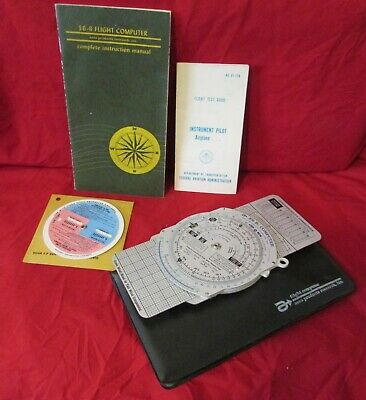 1967 Aero Products E6-B Metal Airplane Flight Computer with Manual and Jacket