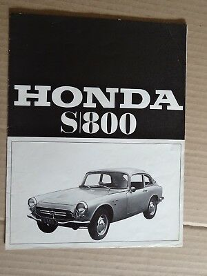 Catalogue Publicitaire: Depliant 4 Pages Honda S 800